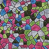 Glass mosaic seamless generated texture Stock Photography