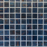 Glass mosaic wall in the bathroom. As background Royalty Free Stock Image