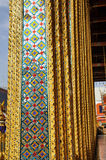 Glass mosaisk stolpemodellöverlappning Arkivbild