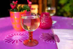 Glass Moselle wine Stock Images