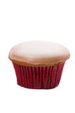 Glass muffin för socker som isoleras på vit bakgrund Arkivbild