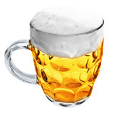 Glass Mug with beer isolated Royalty Free Stock Image