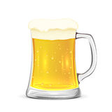 Glass mug of beer Stock Photos