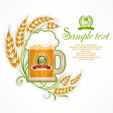 Glass mug of beer Stock Images