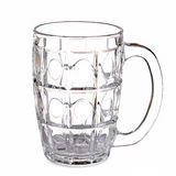 Glass mug blank isolated white background with  handle Royalty Free Stock Photography