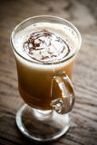 Glass mug with cappuccino Royalty Free Stock Photo