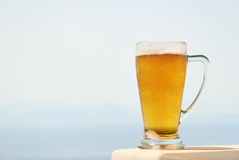 Glass mug of cold beer Stock Photos
