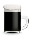 Glass mug with dark beer Royalty Free Stock Photography