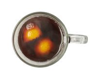 Glass mug filled with mulled wine isolated Stock Photography