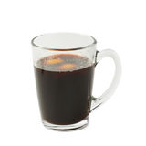 Glass mug filled with mulled wine isolated Royalty Free Stock Image