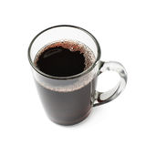 Glass mug filled with mulled wine isolated Stock Images