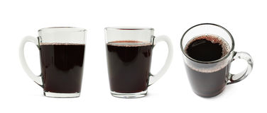 Glass mug filled with mulled wine isolated Stock Photo