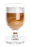 Glass mug full of latte coffee Royalty Free Stock Photos