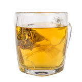 Glass mug of herbal tea Royalty Free Stock Image
