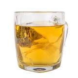 Glass mug of herbal tea Royalty Free Stock Image