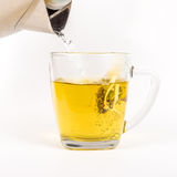 Glass mug of herbal tea Stock Photography