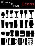 Glass & Mug Icons Royalty Free Stock Photos
