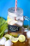 Glass mug of juice Stock Photography