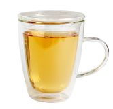 Glass mug with tea Stock Image