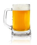 Glass Mug With Beer On White Stock Images