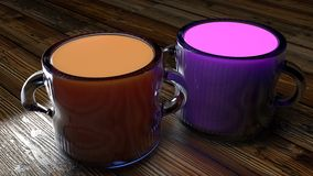 Glass mugs of fruit juice Stock Images