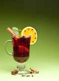 Glass of mulled green. Royalty Free Stock Photos