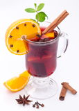 Glass of mulled wine. Royalty Free Stock Photography