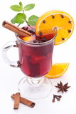 Glass of mulled wine. Stock Photography
