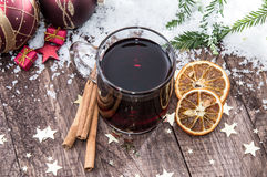 Glass with mulled wine Stock Photography