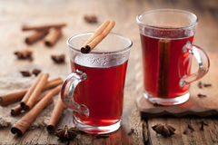 Glass of mulled wine. Two glasses of mulled wine Royalty Free Stock Images