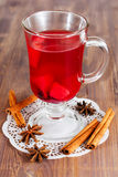 Glass of mulled wine Royalty Free Stock Photo