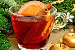Glass of mulled wine Stock Image