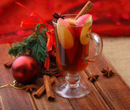 Glass of mulled wine. Royalty Free Stock Images