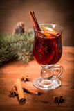 Glass with mulled wine Royalty Free Stock Photography