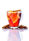 Glass of mulled wine Royalty Free Stock Images