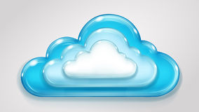 Glass multilayered cloud Royalty Free Stock Images