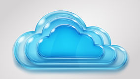 Glass multilayered cloud Stock Image