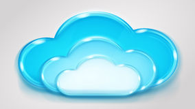 Glass multilayered cloud Royalty Free Stock Image