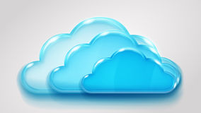 Glass multilayered cloud Stock Photography