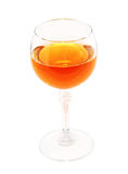 Glass of muscat wine Royalty Free Stock Photos