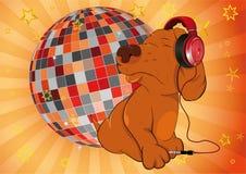 glass musikersphere för hund Arkivfoton
