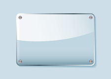 Glass name tag Royalty Free Stock Photo