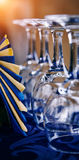 Glass and napkins Royalty Free Stock Photos