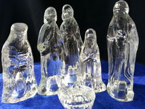 glass nativity Arkivfoton