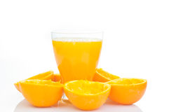 Glass of natural orange juice Royalty Free Stock Photos