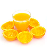 Glass of natural orange juice Royalty Free Stock Images