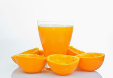 Glass of natural orange juice Stock Image
