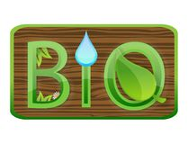 Glass nature bio symbol green color Royalty Free Stock Photography