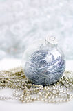 Glass New Year's toy on brilliant jewelry Stock Photography