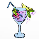 Glass with non-alcoholic cocktails Stock Image